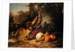Fruit and Sparrows by Johann Wilhelm Preyer