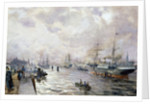 Sailing Ships in the Port of Hamburg by Carl Rodeck