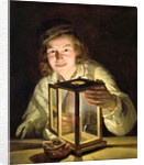 The Young Stableboy with a Stable Lamp by Ferdinand Georg Waldmuller