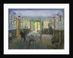 The Hall of the Manor House in Waltershof by Hans Olde