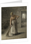 A Farmer's wife sweeping by Jean-Francois Millet