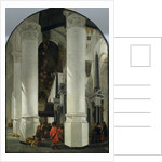 Interior view of the New Church in Delft by Emanuel de Witte