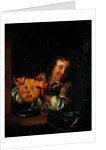 Boy with Pancakes by Godfried Schalcken