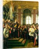The Proclamation of Wilhelm as Kaiser of the new German Reich, in the Hall of Mirrors at Versailles by Anton Alexander von Werner