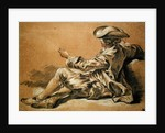 Small boy with a fishing rod by Francois Boucher