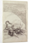 Maja and Celestina under an arch by Francisco Jose de Goya y Lucientes