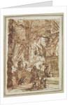 Preparatory drawing for plate number VIII of the 'Carceri al'Invenzione' series by Giovanni Battista Piranesi