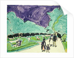 Entrance to a large garden in Dresden by Ernst Ludwig Kirchner