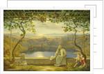 A Monk on a Terrace at the Nemi Lake by Joachim Faber
