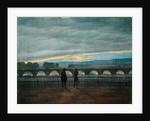 August Bridge in Dresden by Caspar David Friedrich