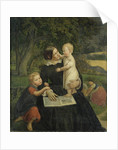 Emilie Marie Wasmann, the artist's wife, with Elise and Erich, their oldest children by Rudolph Friedrich Wasmann