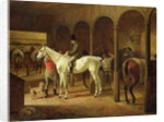 In a Stable by Franz Kruger