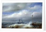 Rough Sea in Stormy Weather by Paul Jean Clays