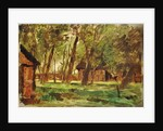 Farmstead under Trees by Thomas Ludwig Herbst