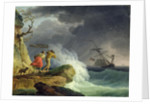 Coastal Scene in a Storm by Claude Joseph Vernet