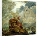 Ossian Conjures Up the Spirits with His Harp on the Banks of the River of Lora by Francois Pascal Simon