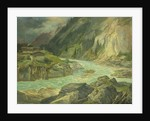 Rapids on the River Isar by Carl Morgenstern