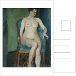 Seated Nude by Franz Nolken