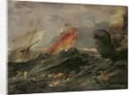Shipwreck on a Rocky Shore by Leonard Bramer