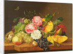 Still life with Flowers and Fruit by Franz Xavier Petter