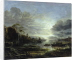 Landscape in Moonlight by Aert van der Neer
