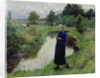 Young Girl in the Fields by Evariste Carpentier