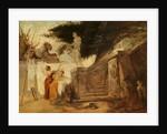 Washerwomen in a Garden by Hubert Robert