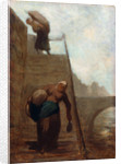 Washerwomen on the Steps of the Quay by Honore Daumier