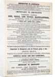 Poster advertising emigrant services by English School