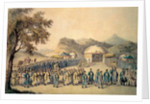 The Approach of the Emperor of China to his tent in Tartary to receive the British Ambassador, George, 1st Earl Macartney by William Alexander