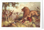 Livingstone attacked by the Lion by Anonymous