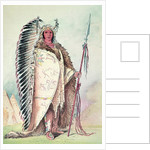 Sioux chief, 'The Black Rock' by George Catlin