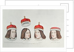 Heads of the portraits of Henry VII, Edward V, Edward IV and Edward, Prince of Wales, son of Henry VI by Anonymous