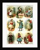 Christmas cards depicting various children's activities by Charles J. Staniland
