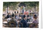 Cafe Scene in Paris by Louis Anet Sabatier