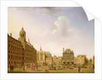 Dam Square - Amsterdam by Isaak Ouwater