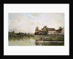 The Banks of the Seine at Portejoie by Charles Francois Daubigny