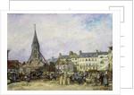 The Market at Sainte-Catherine, Honfleur by Johan-Barthold Jongkind