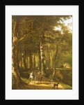 Travellers on a Path in a Wooded Landscape by Jan Hackaert