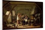 Interior of a Blacksmith by Cornelis Beelt