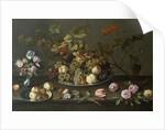 Still Life of Fruit, Flowers and Shells by Balthasar van der Ast