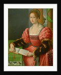 Portrait of a Woman with a Book of Music by Francesco Ubertini