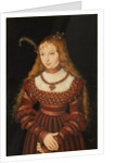 Betrothal portrait of Sybille of Cleves by Lucas