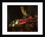 Still Life with the Drinking-Horn of the St. Sebastian Archers' Guild, Lobster and Glasses by Willem Kalf