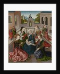 The Virgin and Child with Four Holy Virgins by Master of the Virgo Inter Virgines