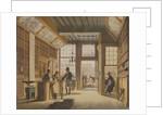 The Shop of the Bookdealer Pieter Meijer Warnars on the Vijgendam in Amsterdam by Johannes Jelgerhuis