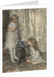 Two Girls Blowing Bubbles by Jacob Henricus or Hendricus Maris