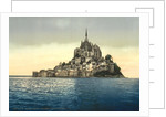 East coast at high water, Le Mont St. Michel, France by Anonymous