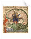 Anti Christ seated on a Leviathan from 'Liber Floridus' by Lambert de Saint-Omer by Flemish School