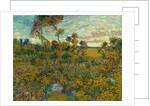 Sunset at Montmajour by Vincent van Gogh